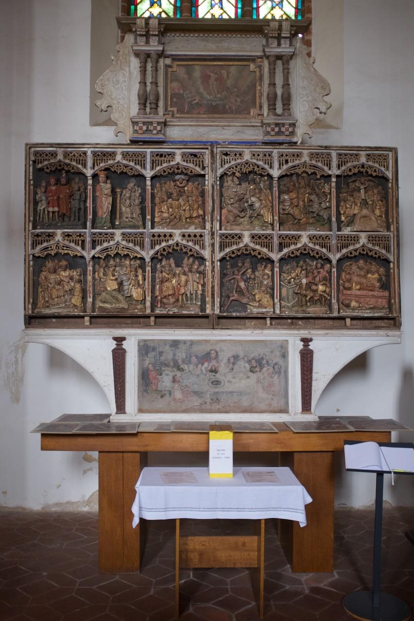 Ansicht des Achatius-Altars in Kyritz