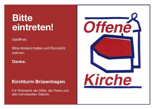 Offene Kirche Bruesenhagen Schild